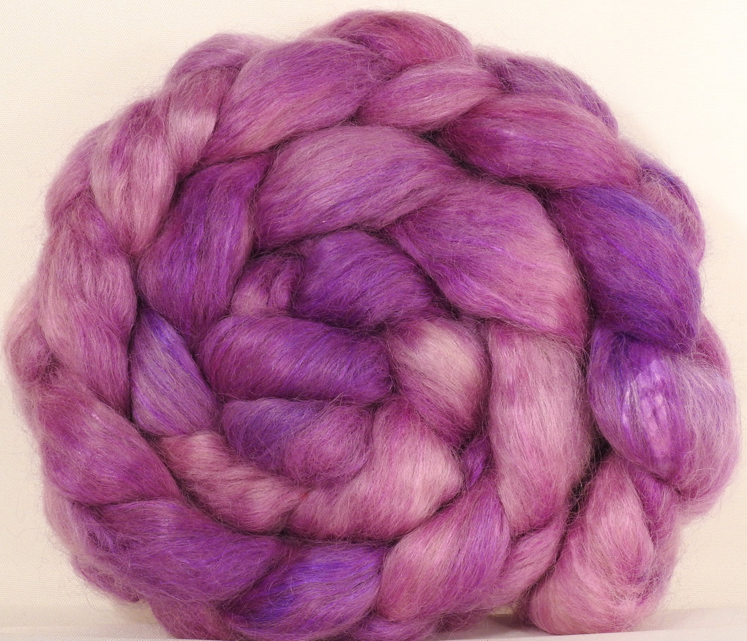 Wensleydale/ mulberry silk roving ( 65/35) - Evening Primrose - (6.2 oz.) - Inglenook Fibers