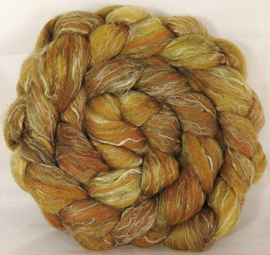 Batt in a Braid #29 -Old Gold (5.3 oz.) Rambouillet / Tussah / Flax (40/40/20)