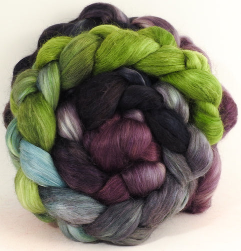 Symbiosis- Batt in a Braid #52- Wensleydale/ Mulberry silk/ Polwarth (60/25/15)