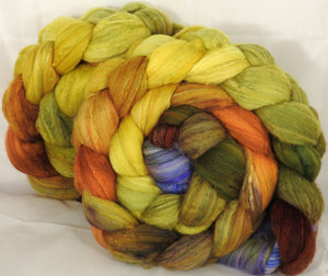 Batt in a Braid #5 - Tuscany -(6.3 oz.) Merino/ Camel/ silk/ faux cashmere/ firestar (25/25/25/12/12)