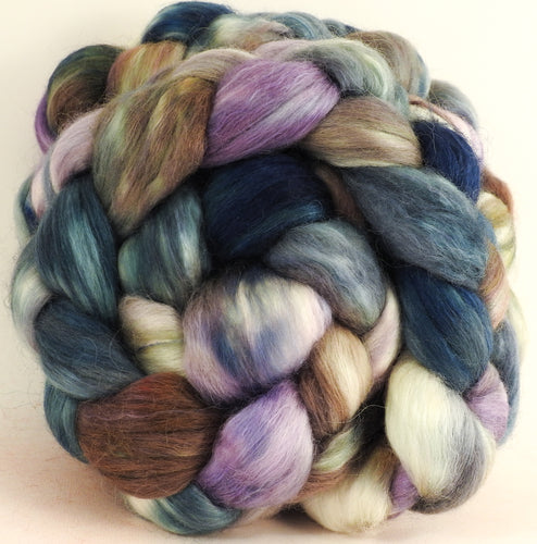 Oysters (5.3 oz) - Batt in a Braid #52- Wensleydale/ Mulberry silk/ Polwarth (60/25/15)