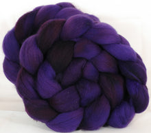 Falkland top for spinning - Damson Plum- 5.1 oz. - Inglenook Fibers
