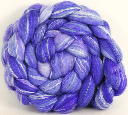 Batt in a Braid #45 - Pale Cornflower - 5.3 oz.- Corriedale/Mulberry Silk/Rose Fiber (60/20/20) - Inglenook Fibers
