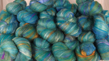 Turquoise - Sticklebatts (4.1 oz.) - 30% Local Border Leicester fleece; merino, rambouillet, silk, bamboo, silk noil