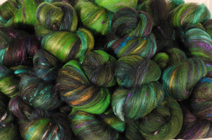 Bonsai - Sticklebatts - 30% Corriedale top; merino, rambouillet, silk, bamboo, silk noil, angelina
