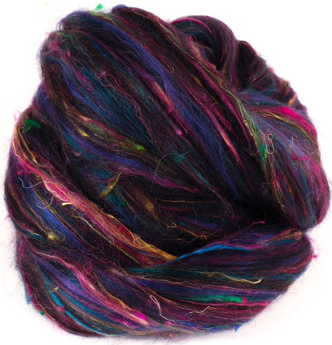 Galaxy  - Zwartbles / Black Alpaca / Sari Silk / Mulberry Silk / Bamboo ( 25/25/25/15/10)