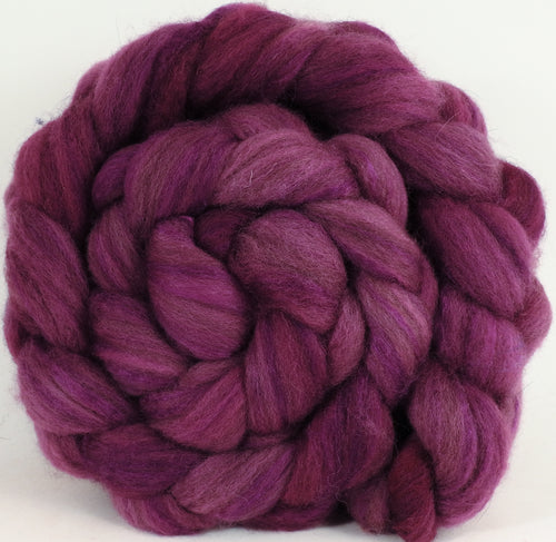 Mixed UK Bfl/ Tussah Silk  (75/25) - Redbud - 5.6 oz. - Inglenook Fibers