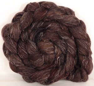 Batt in a Braid #29 -Walnut (5.2 oz.) Rambouillet / Tussah / Flax (40/40/20)