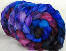 Batt in a Braid #35 -Night Light- Sw Merino (18.5 mic) /Merino (18.5 mic) / Tussah Silk (40/40/20)