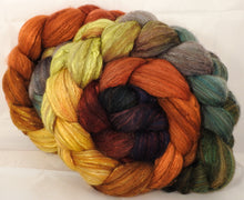 Batt in a Braid #7 -Gourds-(5.25 oz.)Polwarth/ Manx / Mulberry silk/ Firestar (30/30/30/10)