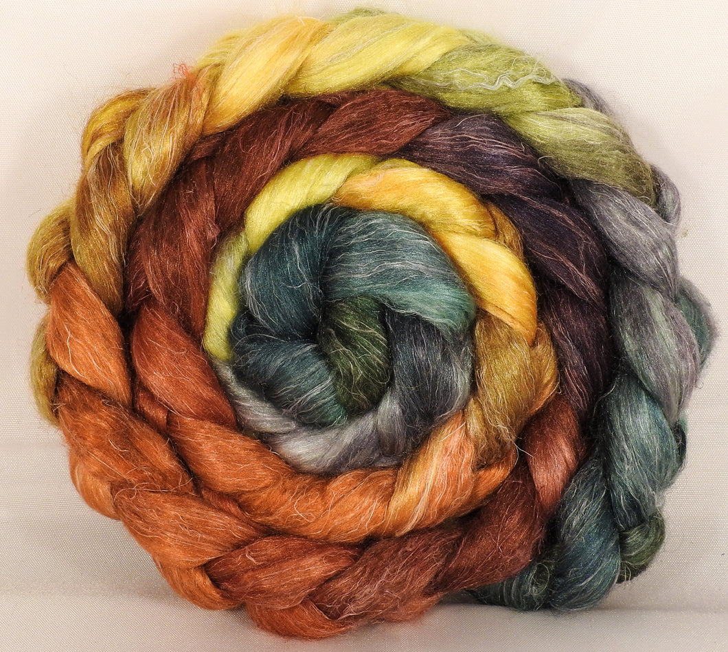 Tussah Silk / flax roving (65/35)-Gourds - 5 oz. - Inglenook Fibers