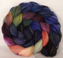 Hand dyed top for spinning -Fresh Fig- (5.1 oz.) Targhee/silk/ bamboo ( 80/10/10)