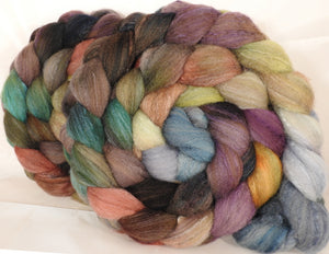 British Southdown/ tussah top (65/ 35) -Pebble Mosaic - 5.3 oz. - Inglenook Fibers