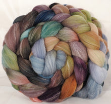 Hand dyed top for spinning -Pebble Mosaic- (5.2 oz.) Targhee/silk/ bamboo ( 80/10/10) - Inglenook Fibers