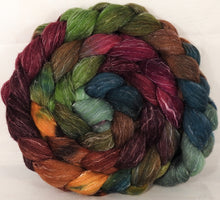 Batt in a Braid #29 -Farm Stand (5.1 oz.) Rambouillet / Tussah / Flax (40/40/20)