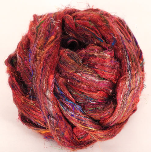 100% Sari Silk Top- Carmine- 1.5 oz. - Inglenook Fibers