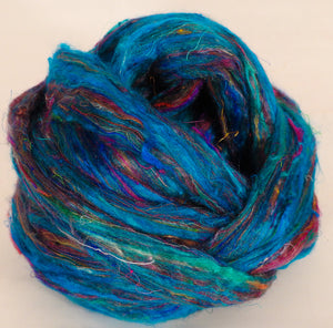 100% Sari Silk Top- Cerulean- 1.5 oz.