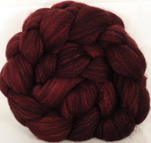 Batt in a Braid #7 -Pomegranate-(5.3 oz.)Polwarth/ Manx / Mulberry silk/ Firestar (30/30/30/10) - Inglenook Fibers