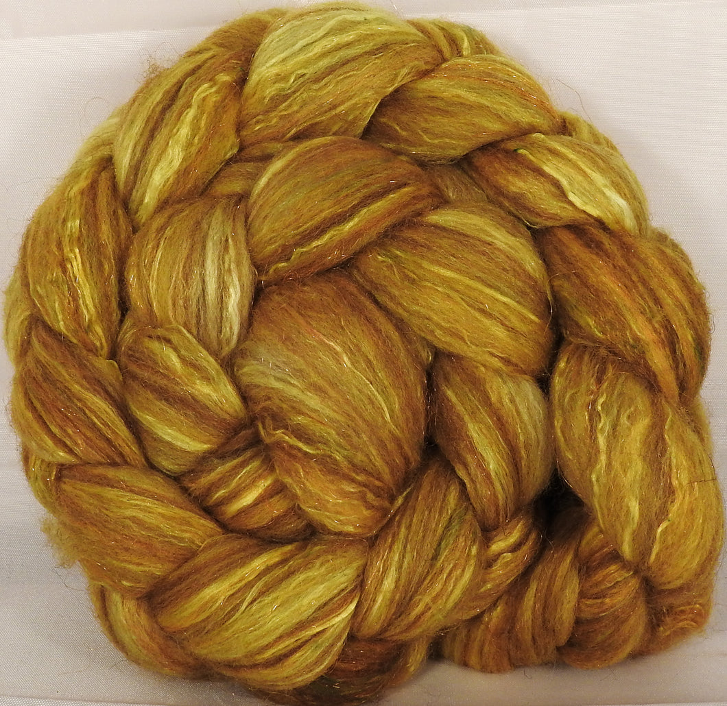 Batt in a Braid #7 -Sunflower-(5.4 oz.)Polwarth/ Manx / Mulberry silk/ Firestar (30/30/30/10)