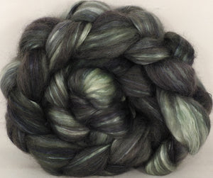Wensleydale/ mulberry silk roving ( 65/35) -Conifer- (5.4 oz.)