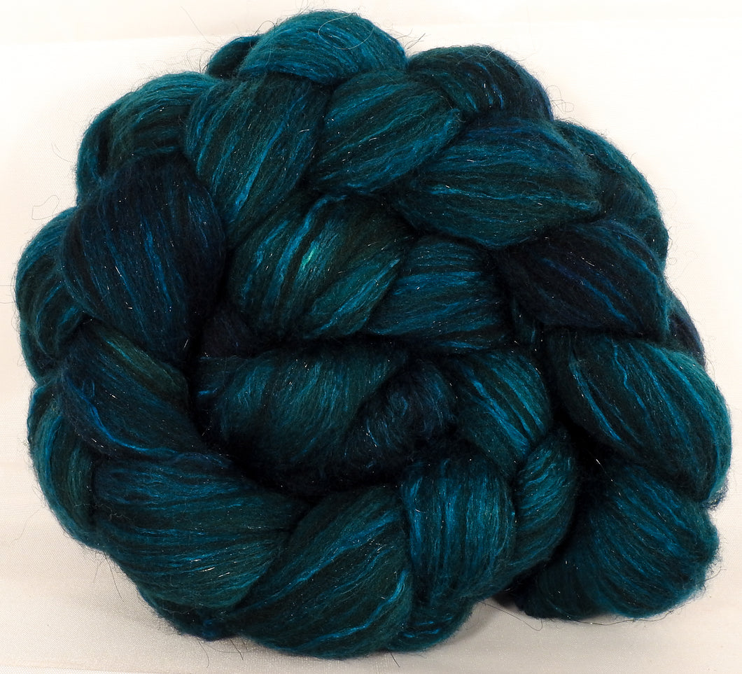 Batt in a Braid #7-Maelstrom- (5 oz.)Polwarth/ Manx / Mulberry silk/ Firestar (30/30/30/10) - Inglenook Fibers