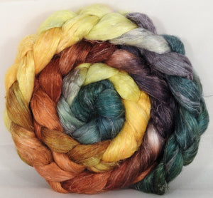 Tussah Silk / flax roving (65/35)- Gourds - 4.9 oz.
