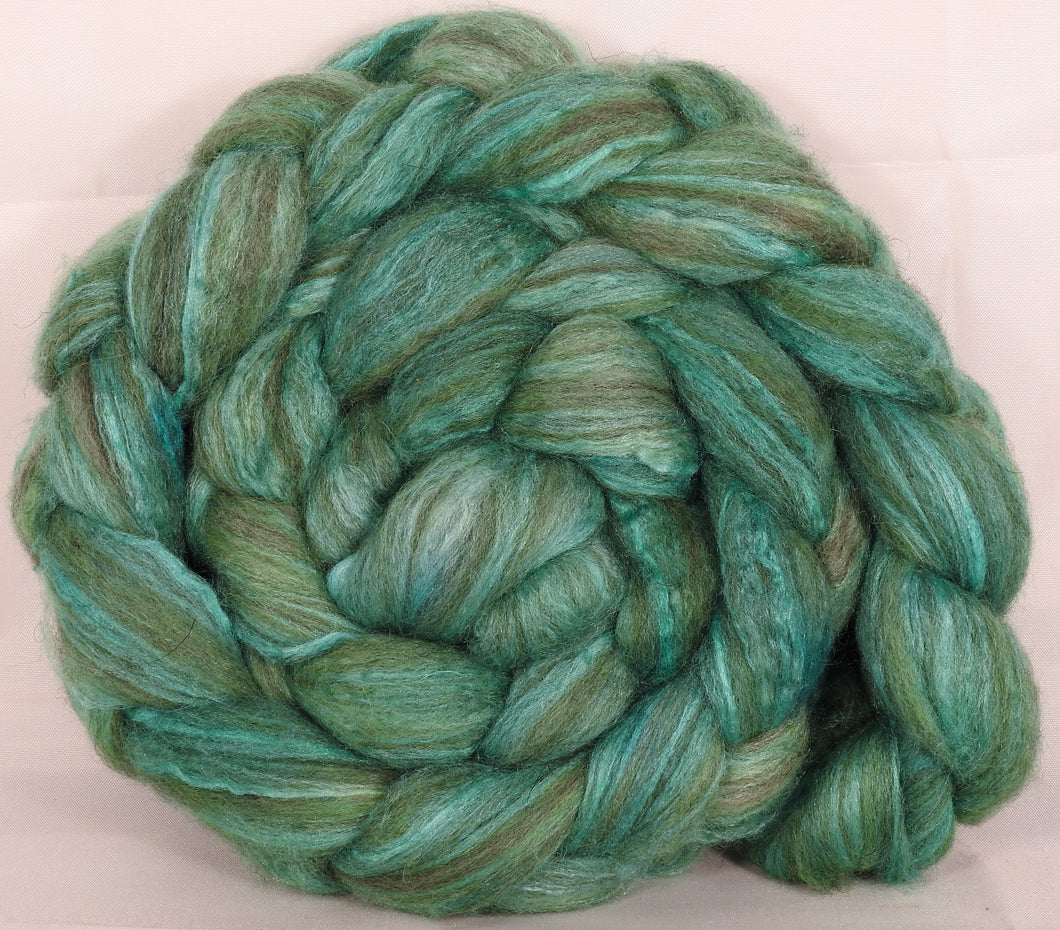 Mixed UK Bfl/ Tussah Silk  (75/25) - Celadon - 5.4 oz. - Inglenook Fibers