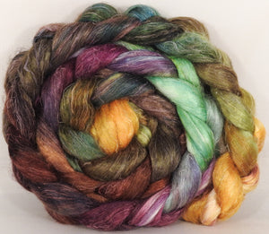 Tussah Silk / flax roving (65/35)- Horn of Plenty - 4.9 oz. - Inglenook Fibers