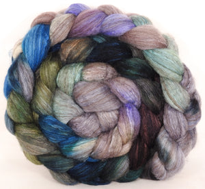 Mixed UK Bfl/ Tussah Silk  ( 75/25) -Tempest- 5.6 oz. - Inglenook Fibers