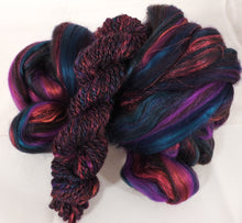 Beetroot - Custom Blended Top- Corriedale/ Superfine Merino/ Mulberry Silk/ FLAX (40/25/25/10) - Inglenook Fibers