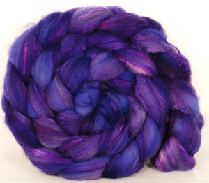 Batt in a Braid #5 -So Very Violet -(6 oz.) Merino/ Camel/ silk/ faux cashmere/ firestar (25/25/25/12/12)