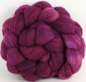 Batt in a Braid #44- Redbud (5.1 oz) - Southdown/Tussah Silk/Kid Mohair (65/25/10)