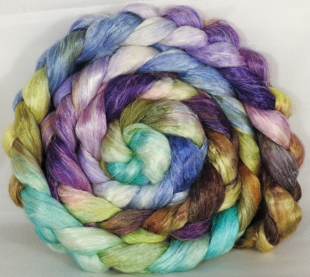 Tussah Silk / flax roving (65/35)- Glass Ornaments - 6.2 oz. - Inglenook Fibers