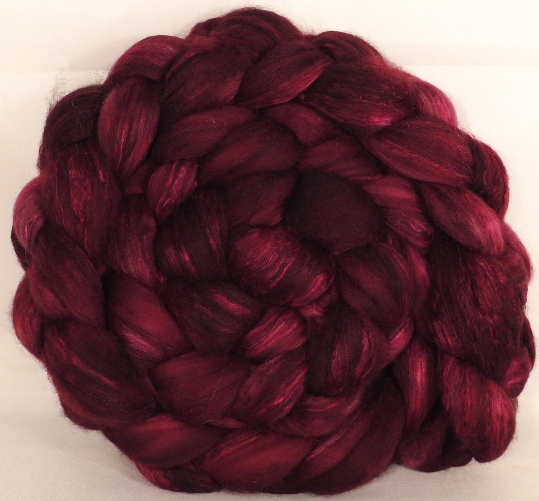 Batt in a Braid #5 - Claret -(5.4 oz.) Merino/ Camel/ silk/ faux cashmere/ firestar (25/25/25/12/12)