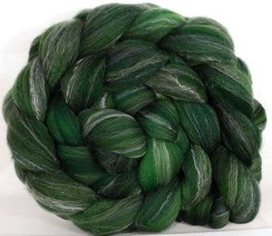 Hand dyed top for spinning - Ivy - (5.4 oz.) Targhee/silk/ bamboo ( 80/10/10) - Inglenook Fibers