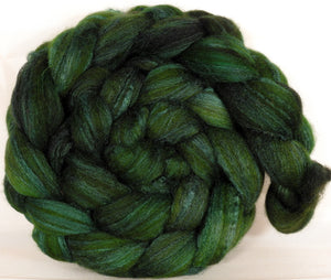 Mixed UK Bfl/ Tussah Silk  ( 75/25) - Ivy- 5.3 oz. - Inglenook Fibers