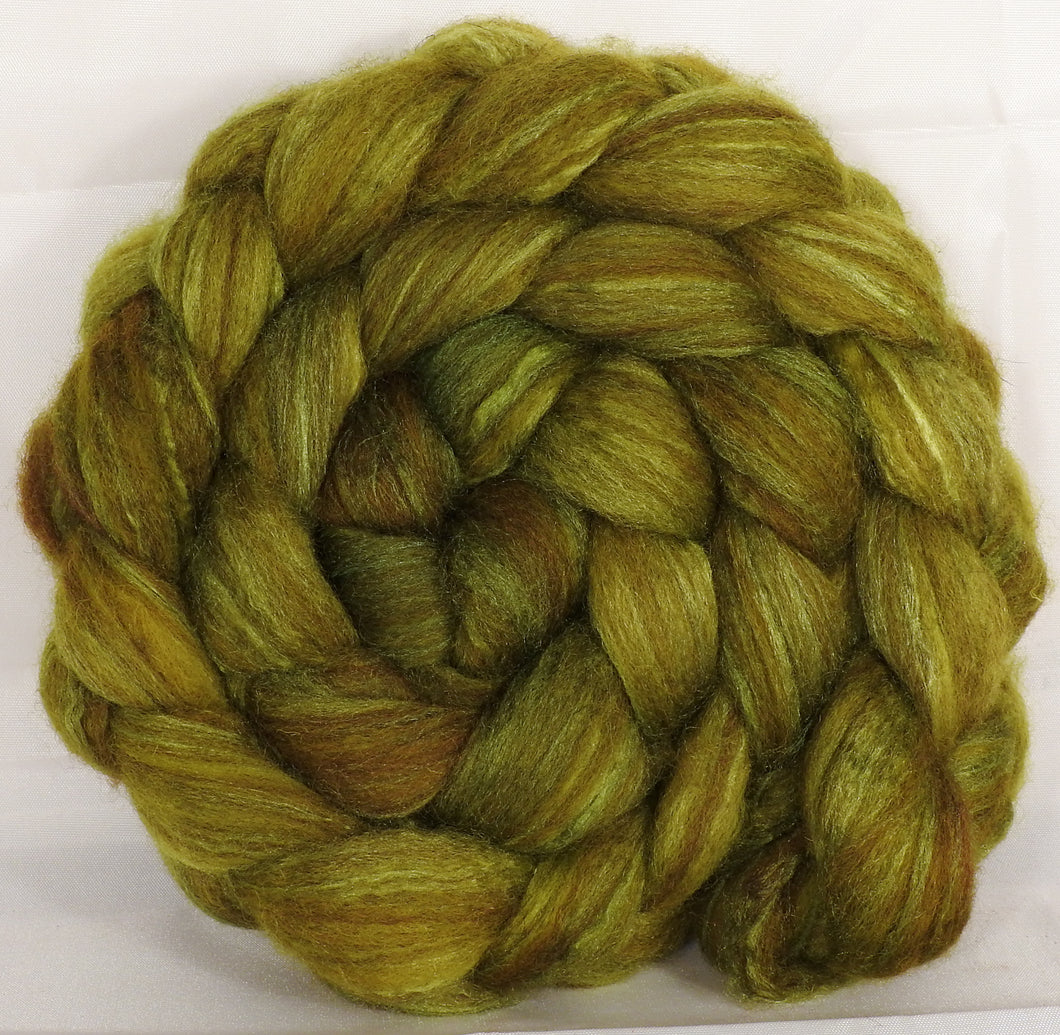 Mixed UK Bfl/ Tussah Silk  (75/25) - Asparagus - 5.4 oz. - Inglenook Fibers