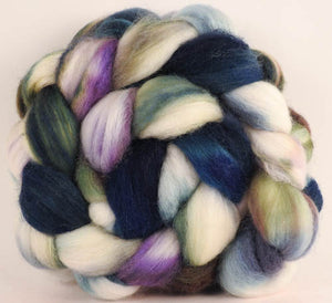 Batt in a Braid #44- Oysters (5.5 oz) - Southdown/Tussah Silk/Kid Mohair (65/25/10)