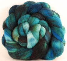 Batt in a Braid #44- Slither - Southdown/Tussah Silk/Kid Mohair (65/25/10)