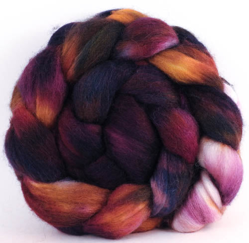 Batt in a Braid #44- Concerto - Southdown/Tussah Silk/Kid Mohair (65/25/10)