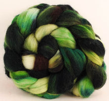 Batt in a Braid #44- Foliage (5.8 oz) - Southdown/Tussah Silk/Kid Mohair (65/25/10)