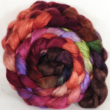 Baby camel/ tussah silk top (50/50) -Plum Pudding (4.1 oz.) - Inglenook Fibers