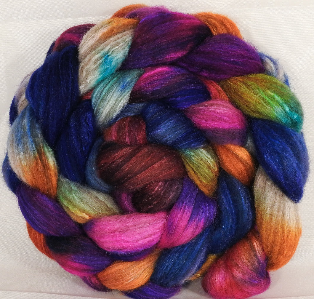 Mixed UK Bfl/ Tussah Silk  (75/25) -Tie-Dye - 6.5 oz. - Inglenook Fibers