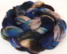 Batt in a Braid #39-SARI- 16 -(5.5 oz.)Falkland Merino/ Mulberry Silk / Sari Silk (50/25/25)