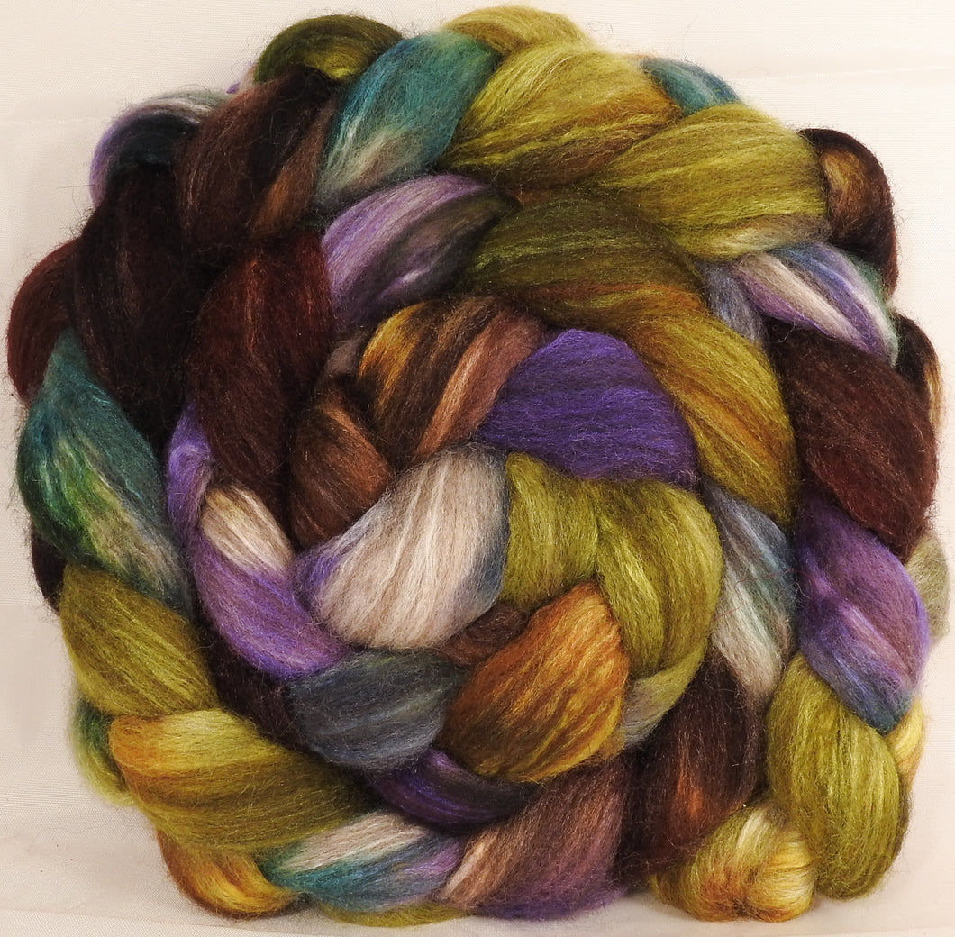 Mixed UK Bfl/ Tussah Silk  ( 75/25) -  5.4 oz. - Inglenook Fibers