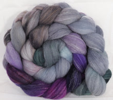 Hand dyed top for spinning -Earl Grey- (5.1 oz.) Targhee/silk/ bamboo ( 80/10/10)