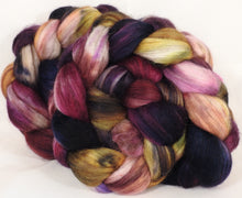 Batt in a Braid #40-Raisins- (4.5 oz.)YAK / Baby Alpaca / Mulberry silk/ Merino ( 18 mic)(30/30/30/10) - Inglenook Fibers