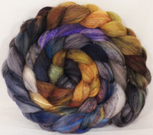 Batt in a Braid #5 -Cast Iron -(5.6 oz.) Merino/ Camel/ silk/ faux cashmere/ firestar (25/25/25/12/12) - Inglenook Fibers