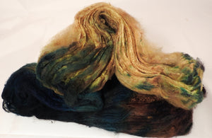 Silk Hankies ( Mawata) for Spinning and Felting-1.3 oz. - Inglenook Fibers
