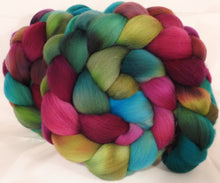 Hand dyed top for spinning -Puff the Magic Dragon - (5.3 oz.) Organic polwarth - Inglenook Fibers